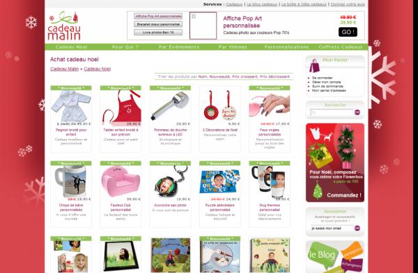 changer design site web pour noel cadeaux malin