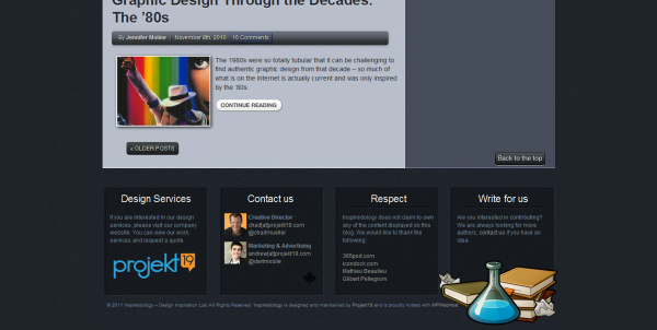 Footer design site web