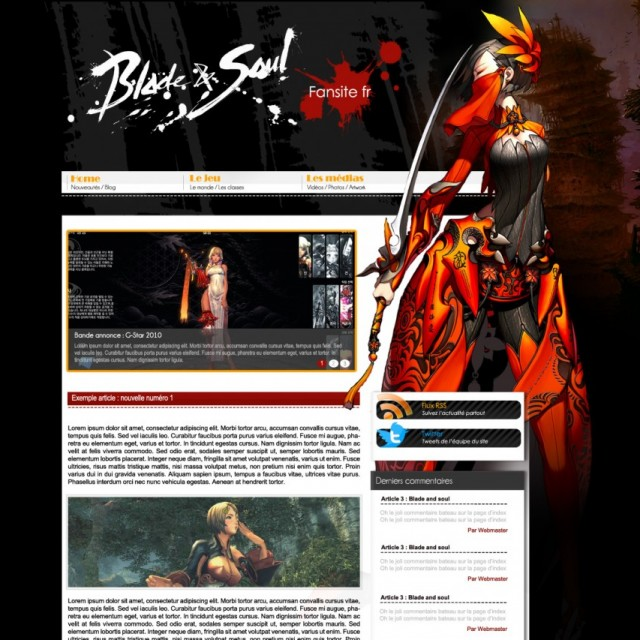 blade and soul site fan