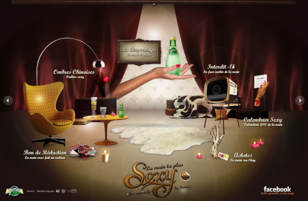la main perrier site web design