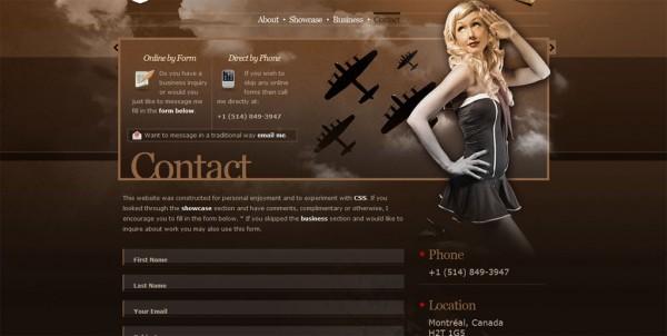 Formulaire contact design armada