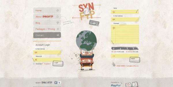 svn2ftp.com, design formulaire de contact