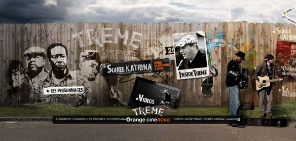 Treme, exemple de site : navigation horizontale / Design