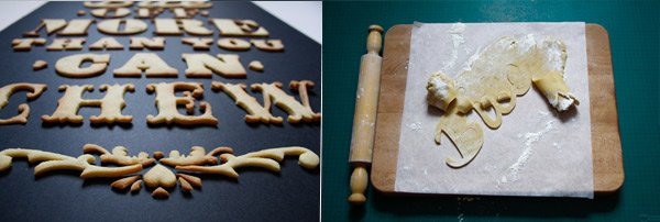 Cuisine typographie : bite off more than you can chew