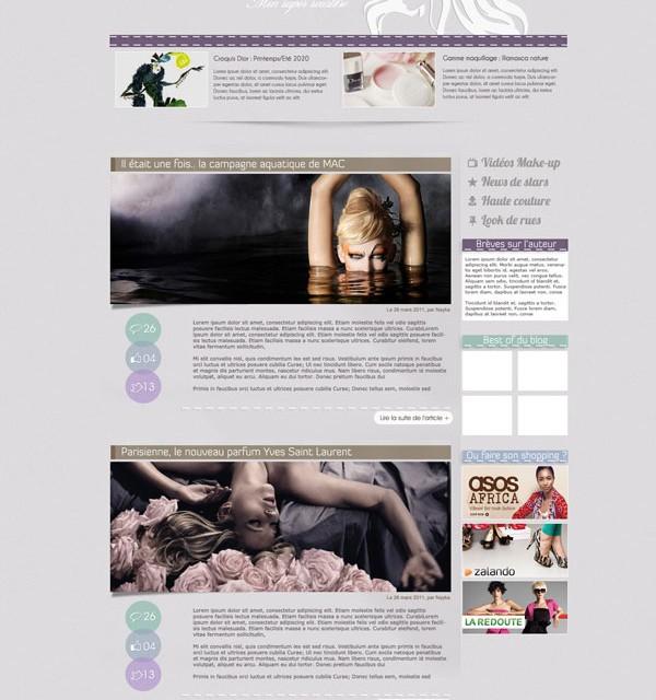 Création perso : Design blog féminin : bidules de filles