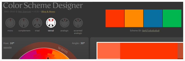 Outil CSS : Color Scheme Designer