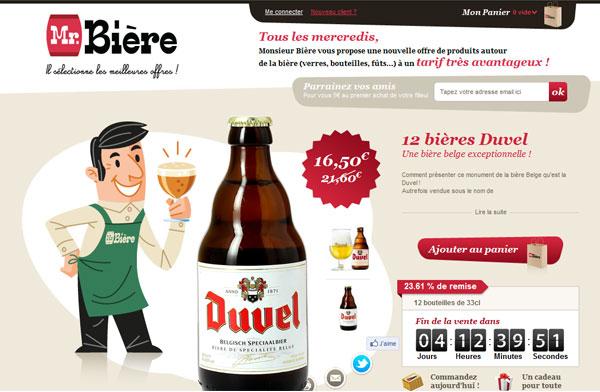 Site web inspiration : Mr bière