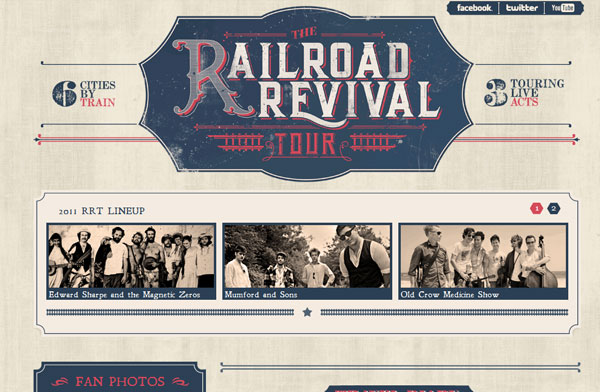 Site web inspiration : rAILROAD