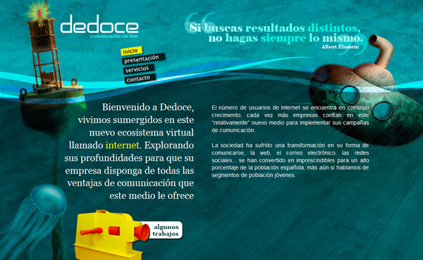 deliweek9 site1, inspiration web