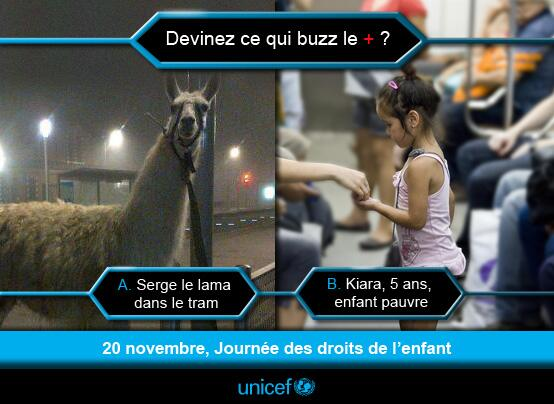 Unicef : serge le lama